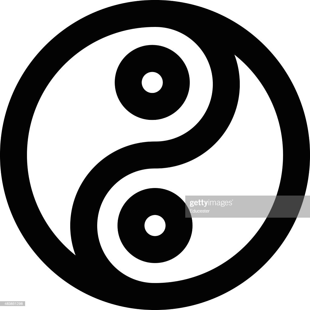 Yinyang Vector Icon