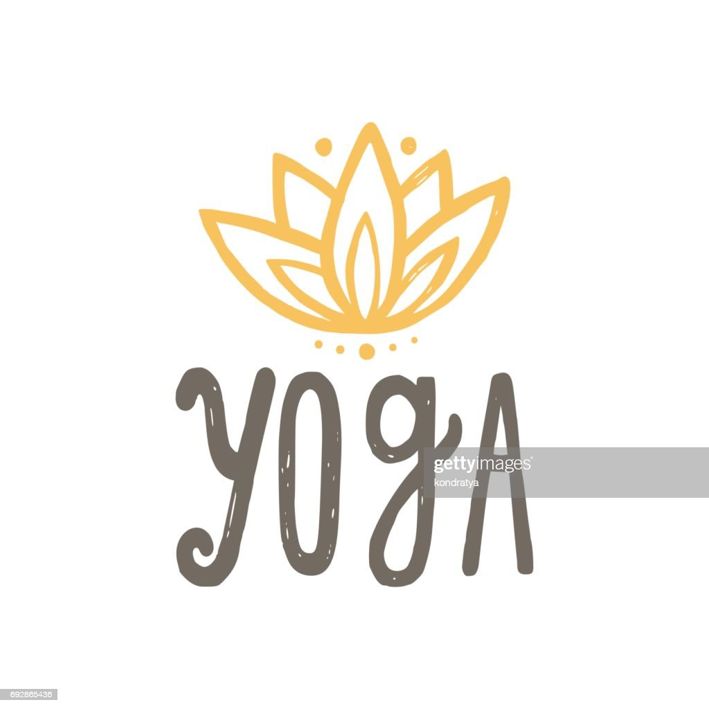 Yoga and lotus.