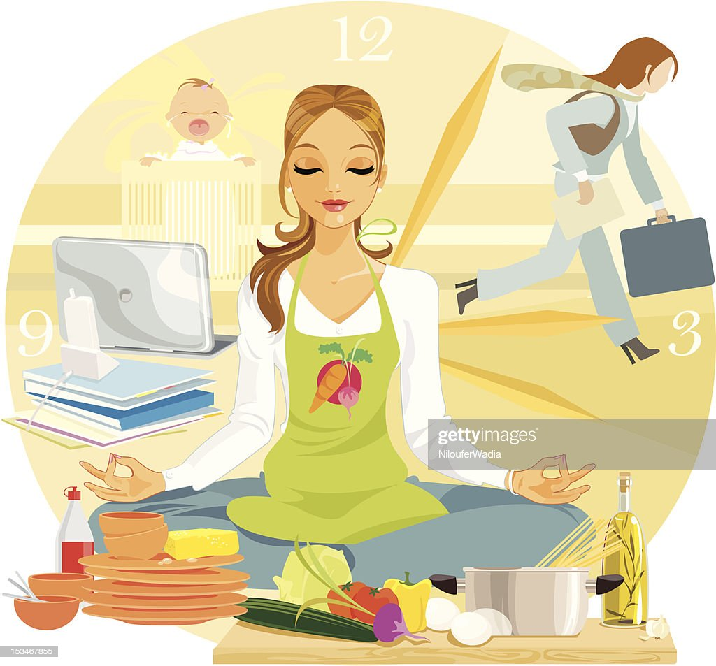 Yoga for Relaxation : stock illustration
