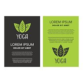 Yoga leaflet design