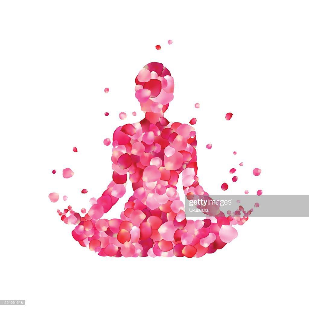 Yoga lotus pose silhouette