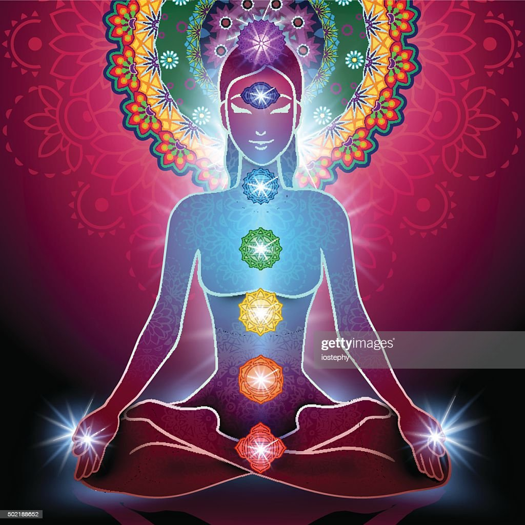 Yoga Lotus Position and Chakra