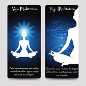 Yoga meditation brochure flyers template