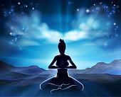 Yoga Pilates Pose Silhouette Woman Concept