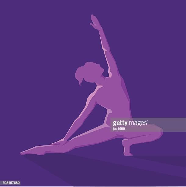 ilustraciones, imágenes clip art, dibujos animados e iconos de stock de yoga pose símbolo - pilates