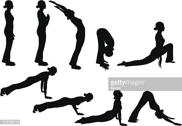 ilustraciones, imágenes clip art, dibujos animados e iconos de stock de yoga pose - pilates