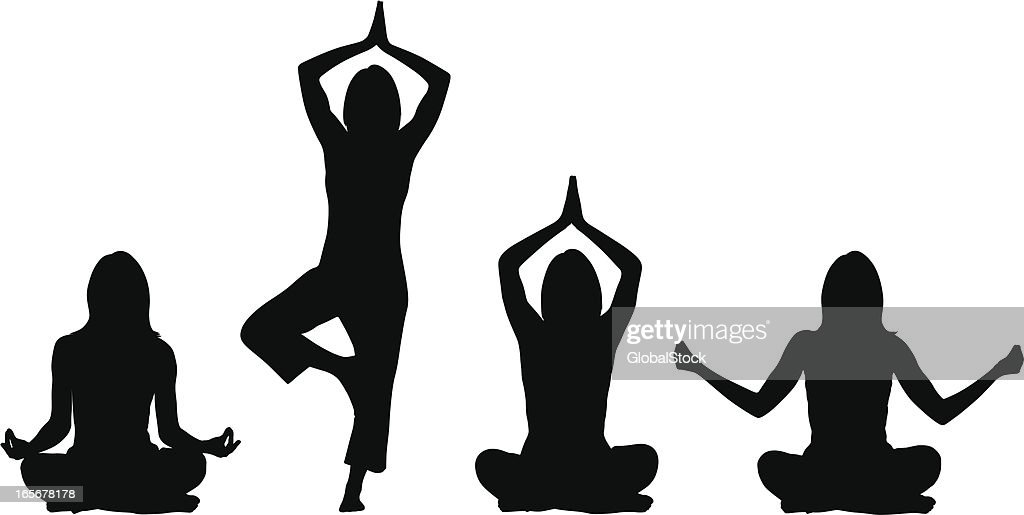 Yoga positions - Woman