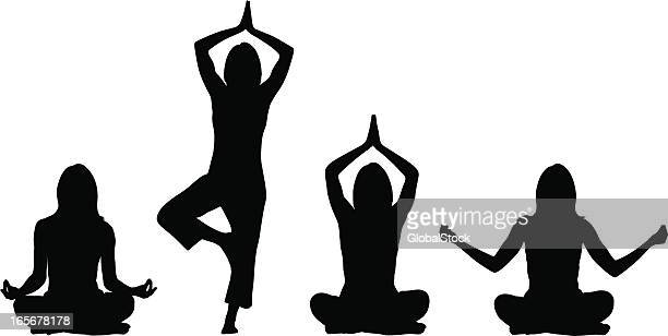 5 050 Ilustraciones Clipart Dibujos Animados E Iconos De Stock De Yoga Getty Images