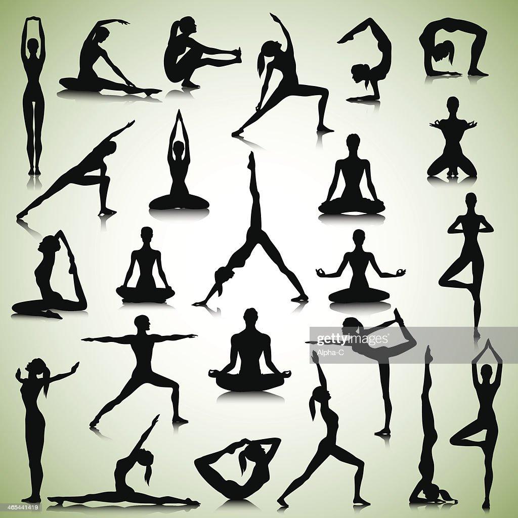 Yoga set of people