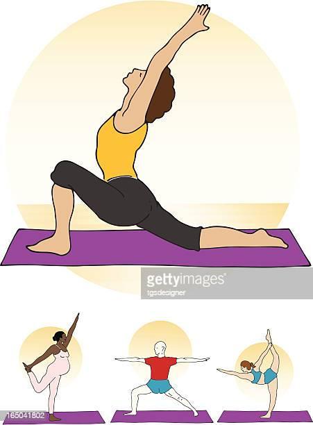 ilustraciones, imágenes clip art, dibujos animados e iconos de stock de yoga de dos - baile moderno