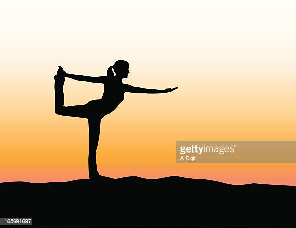 Yoga Strength Vector Silhouette