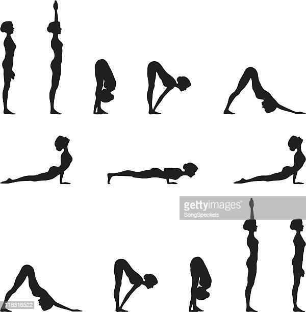 Yoga Sun Salutation Silhouette Series
