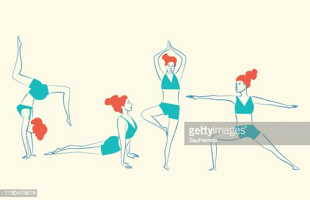 yoga - aire libre stock illustrations, clip art, cartoons, & icons