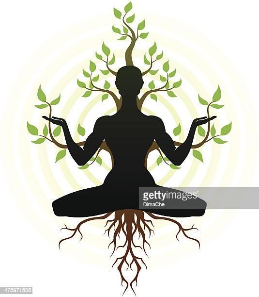 yoga - spirituality stock illustrations