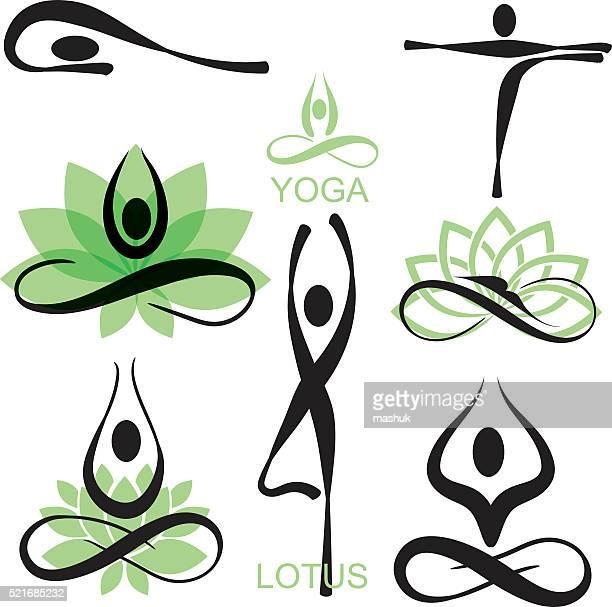 yoga - lotus position stock illustrations
