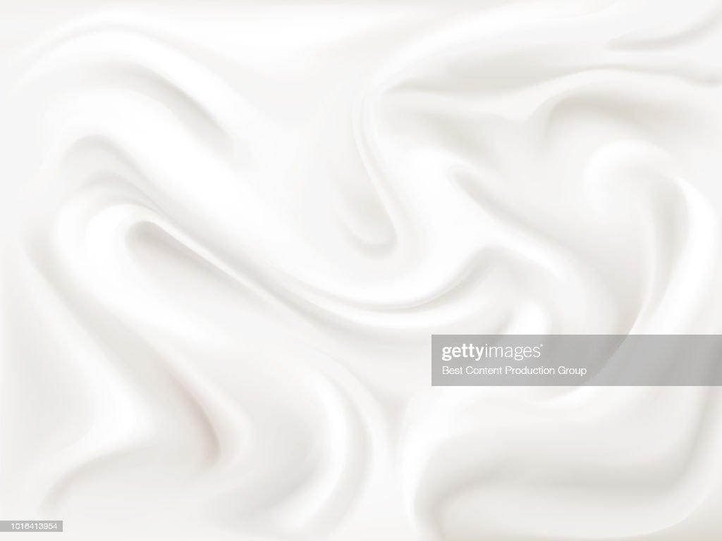 Yogurt cream or silk texture vector illustration