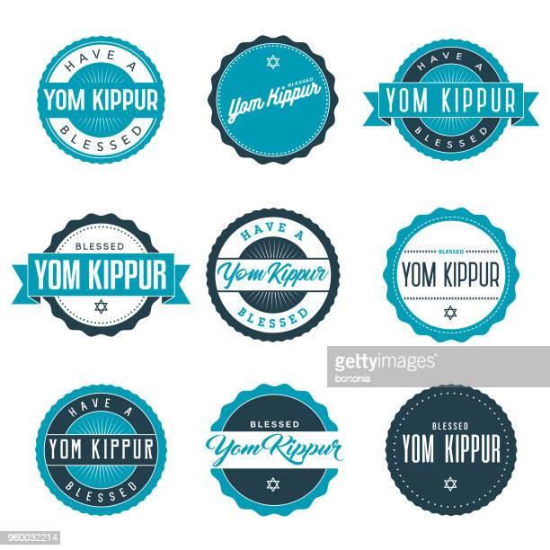 yom kippur icon set - fasting activity stock illustrations, clip art, cartoons, & icons