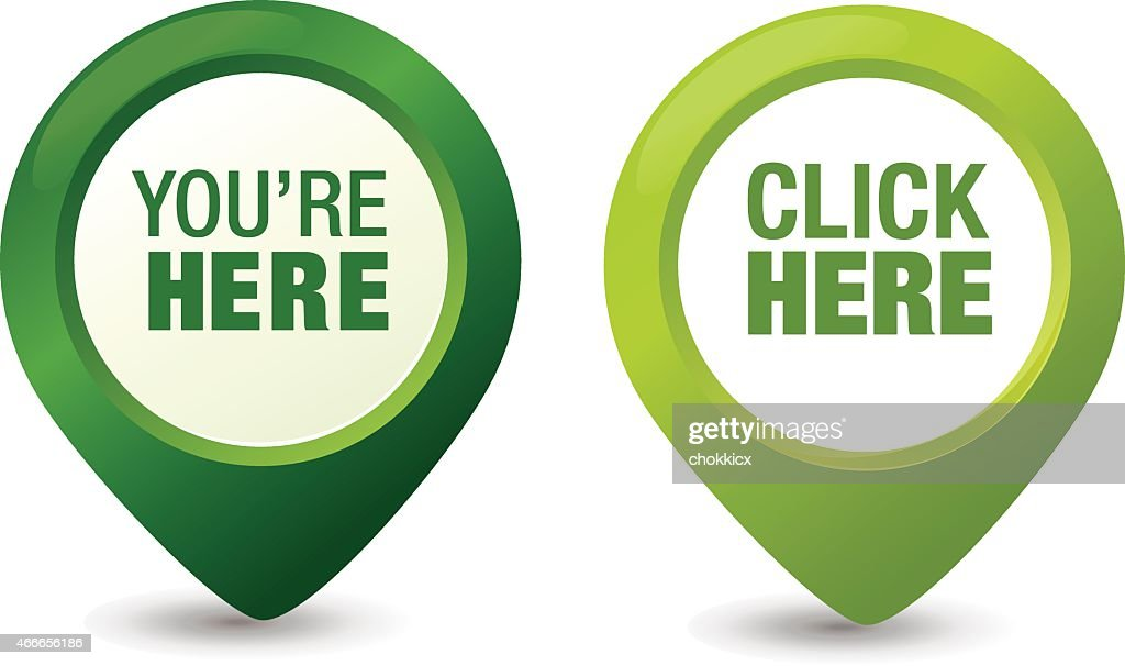 You Are Here Pointer Vector Art Getty Images