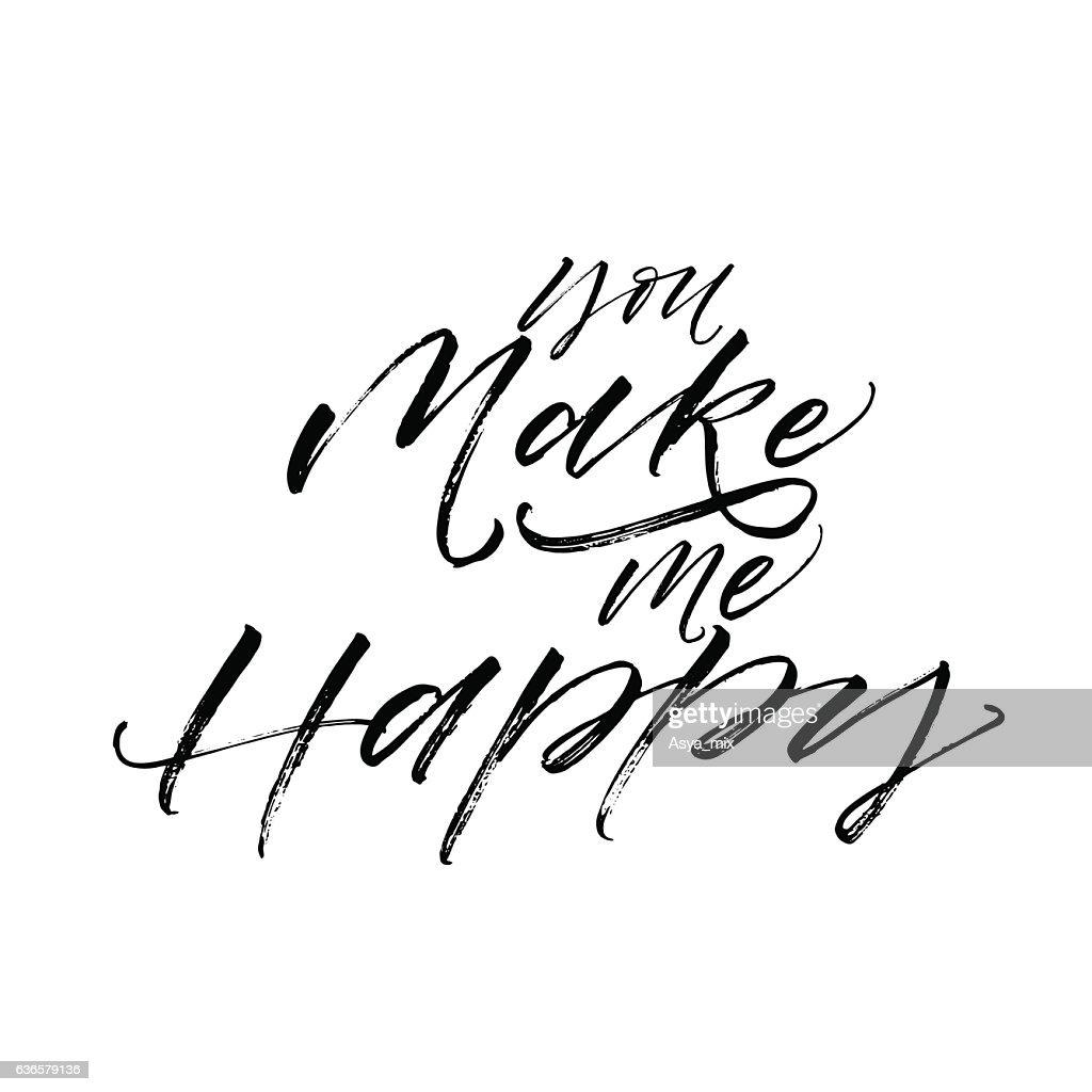 You make me happy card.