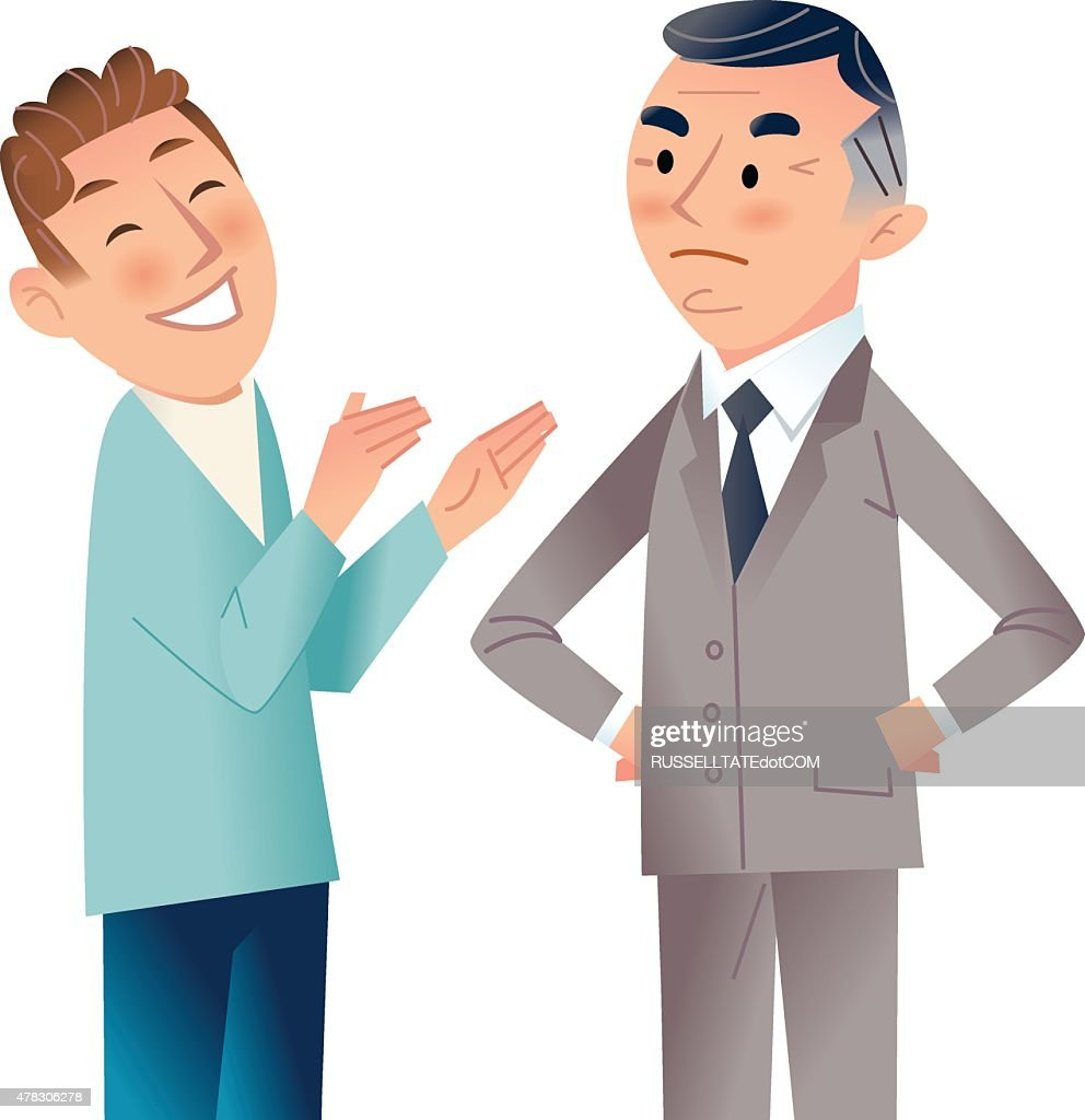 You want it when! : stock illustration