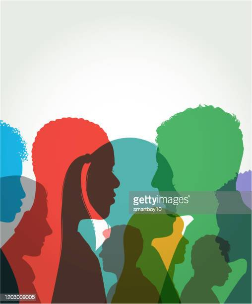 young adult head silhouettes - 20 24 years stock illustrations