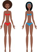 Young african woman's body template