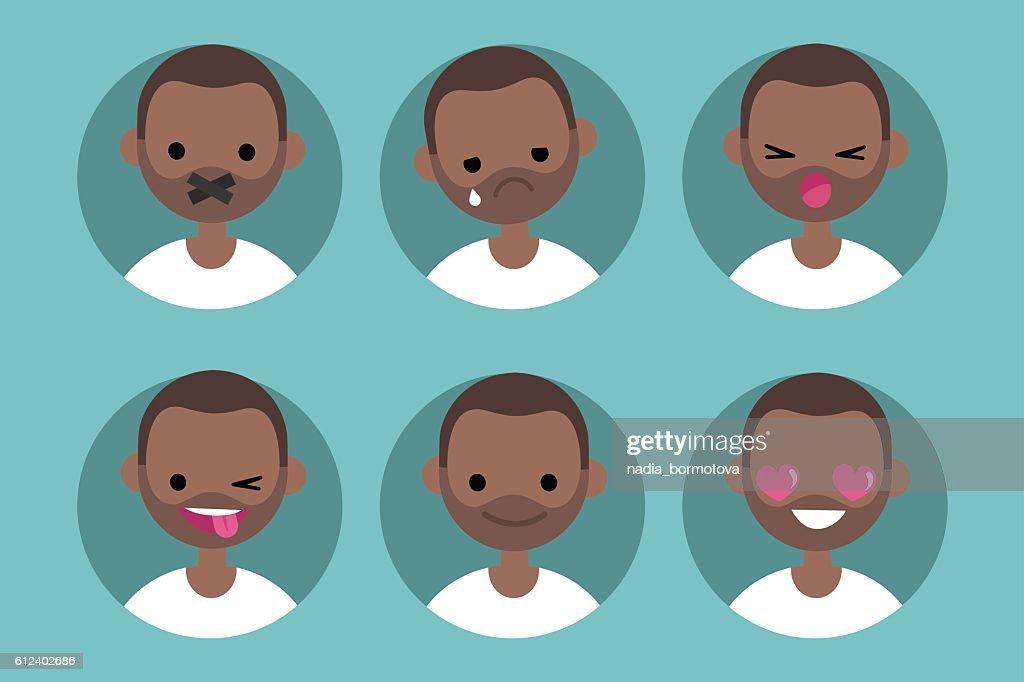 Young black man profile pics