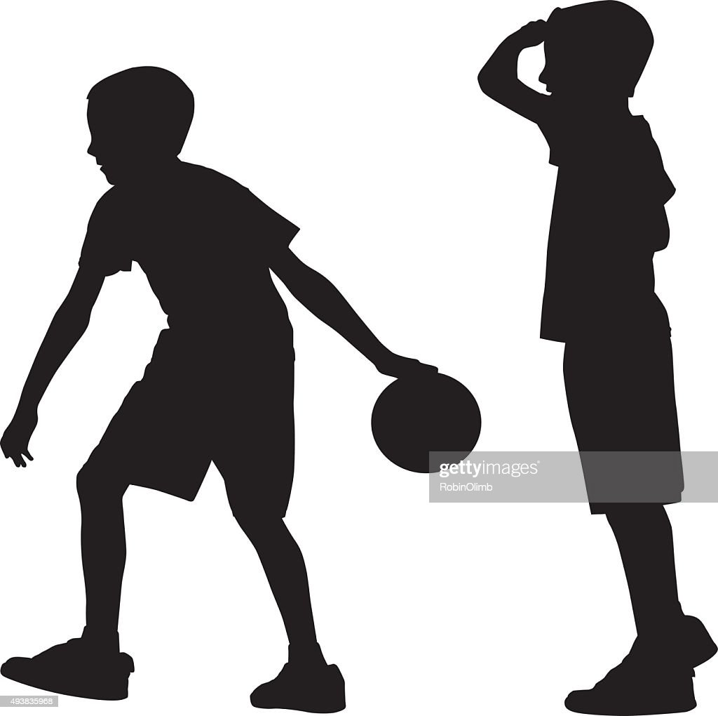 young boy bowling silhouette vector art getty images