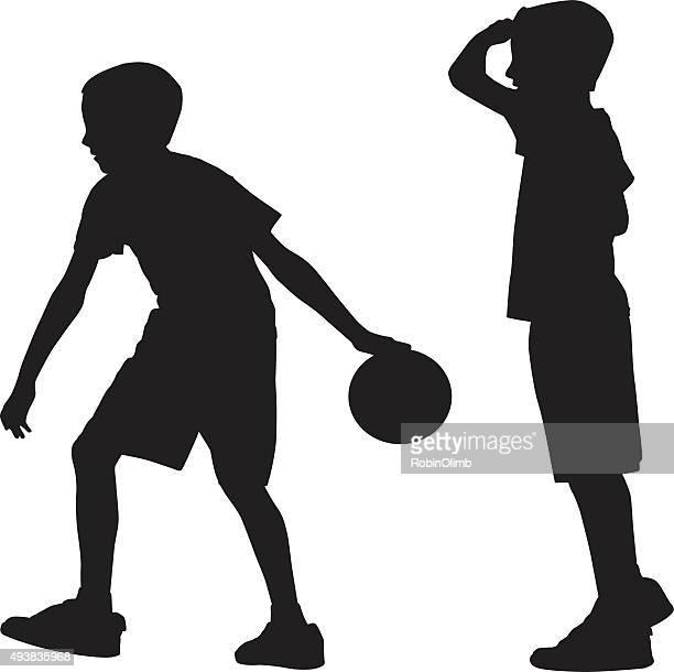 illustrations, cliparts, dessins animés et icônes de jeune garçon silhouette de bowling - lance