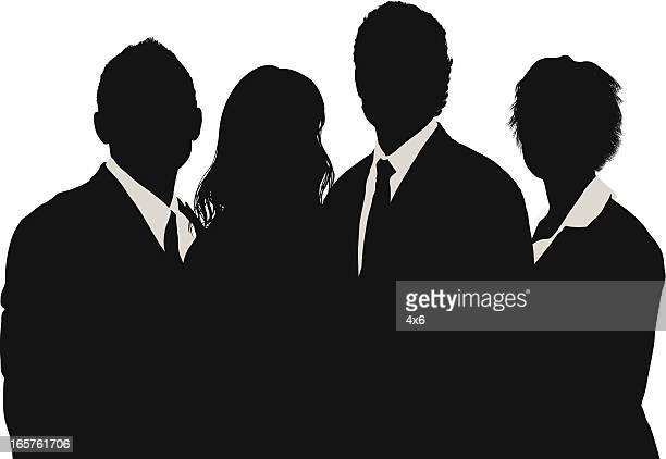 Young business people group silhouette