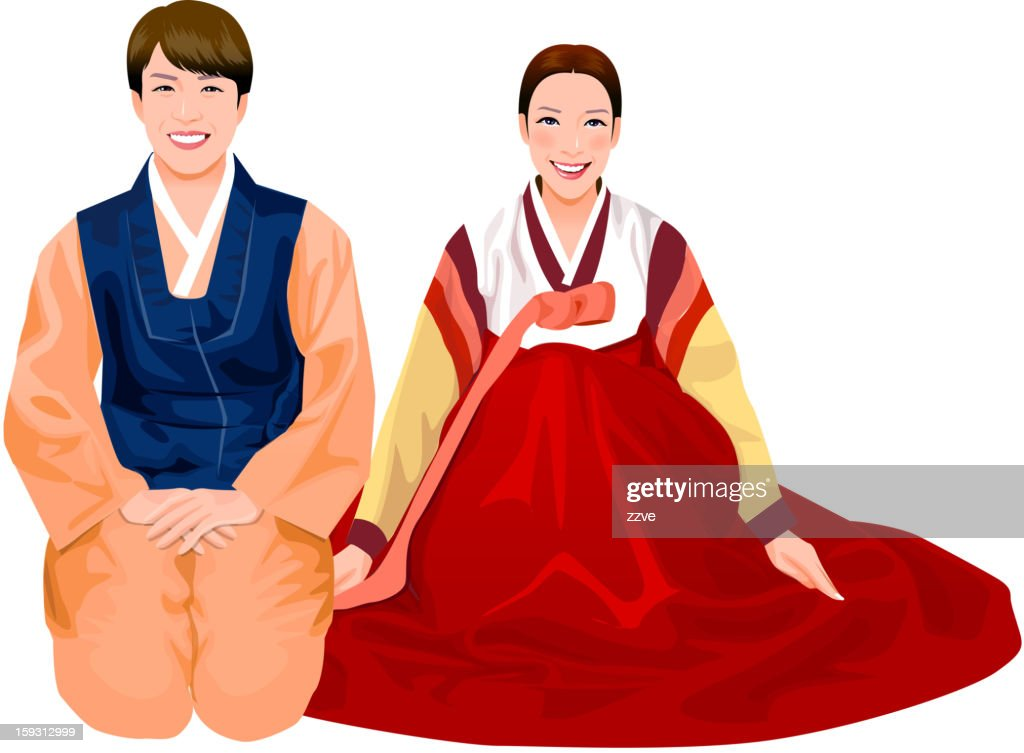 Young couple in Korean