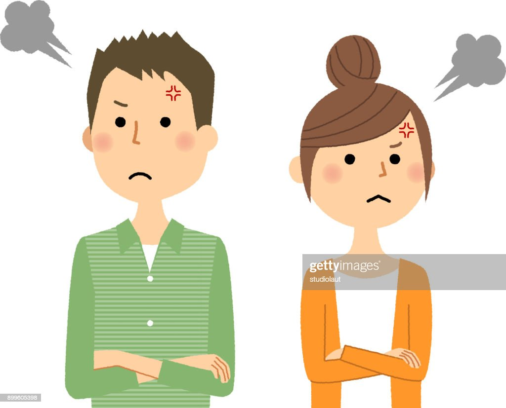 Young couple,Anger