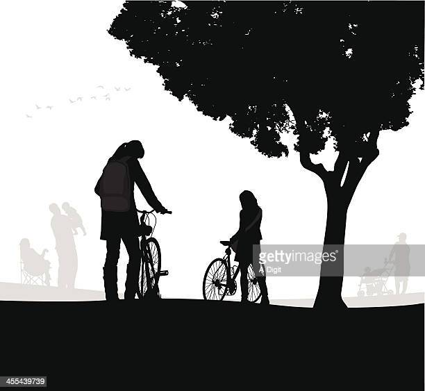 Young Cyclist Vector Silhouette