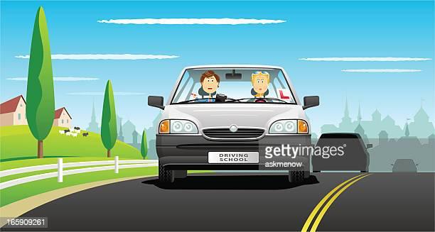 illustrations, cliparts, dessins animés et icônes de jeune conducteur - permis de conduire