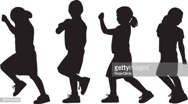 Young Girl Marching Silhouettes