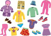 Young girls clothing items