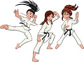 Young girls, Karate Players