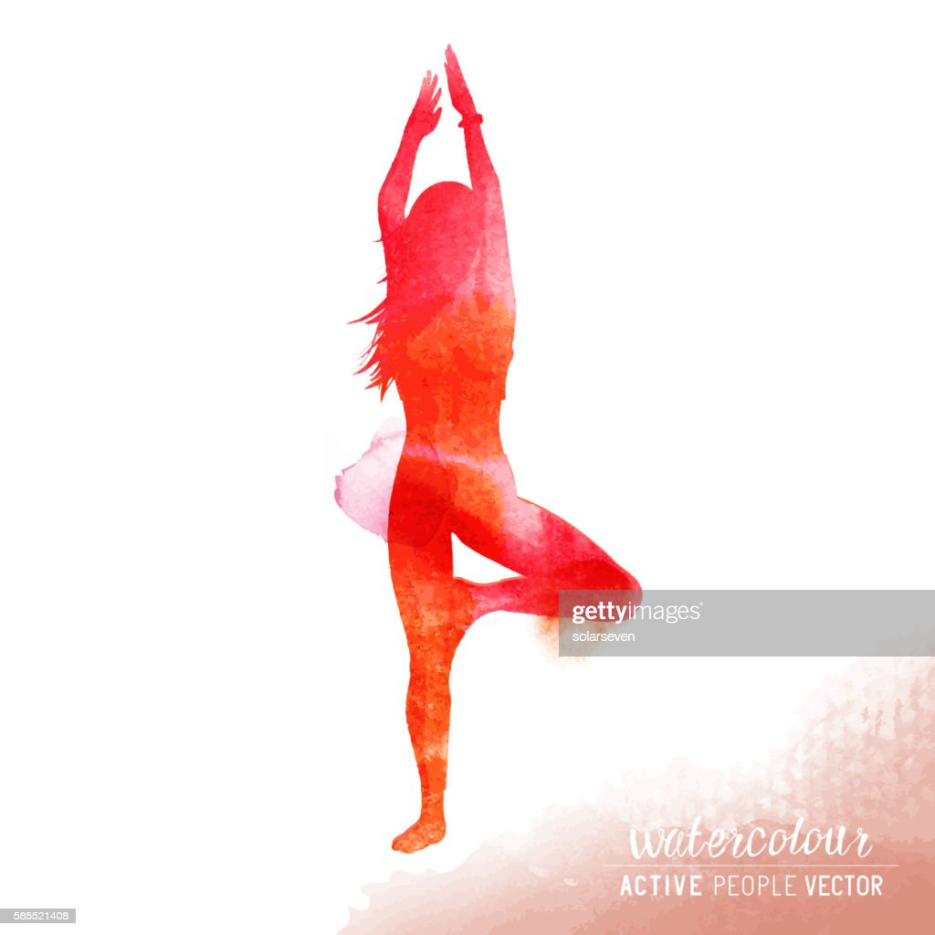 Young Lady in Yoga Class