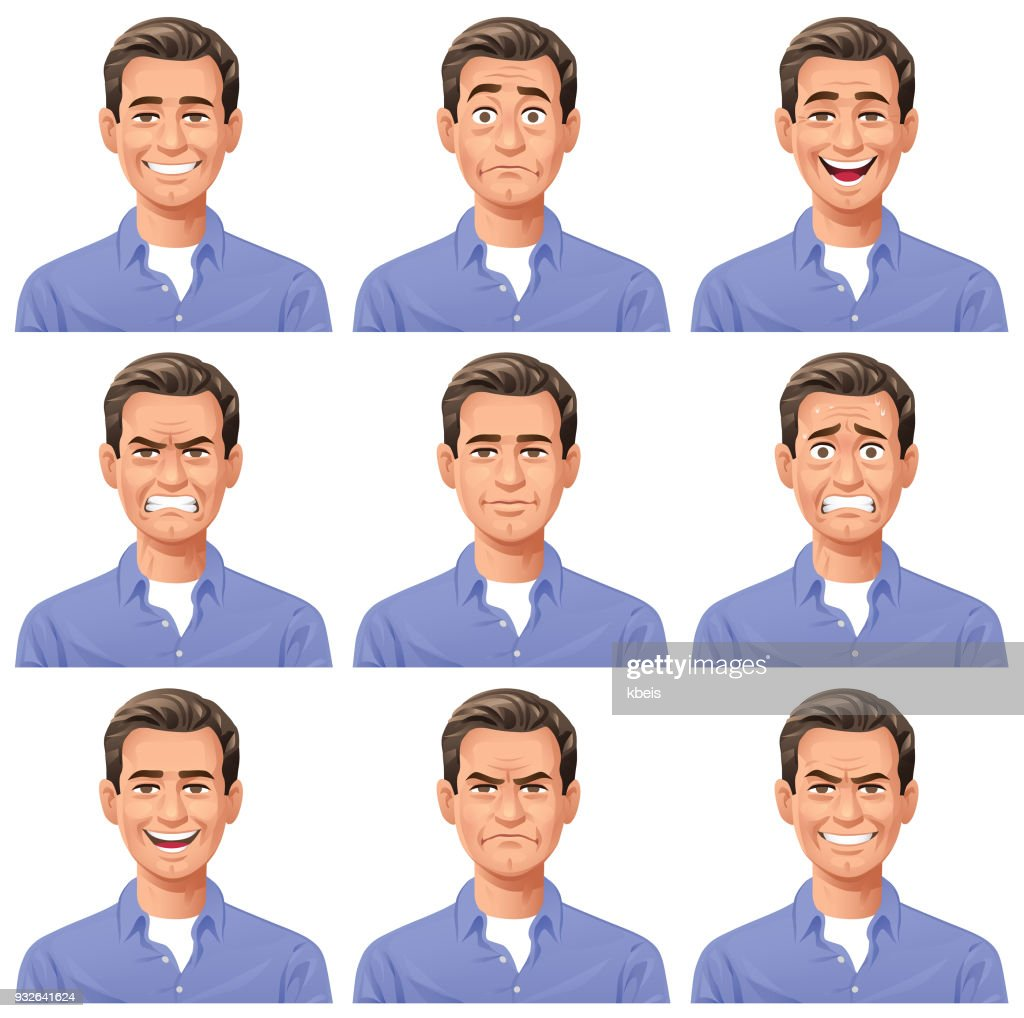 Young Man- Facial Expressions