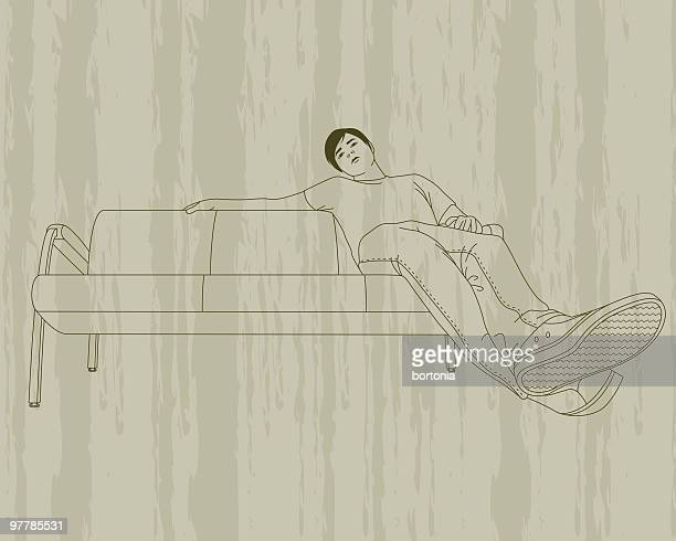 Young Man on Couch