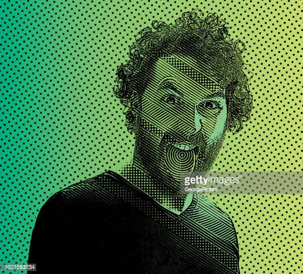 young man with a crazy expression - sticking out tongue stock illustrations, clip art, cartoons, & icons