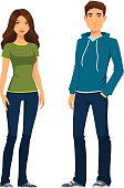 young people in casual outfit