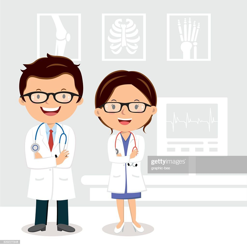 Young professional doctors
