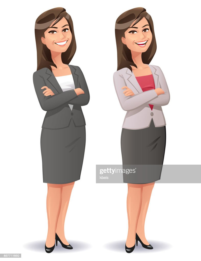 Young Smiling Businesswoman : stock illustration