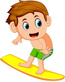 young surfer cartoon