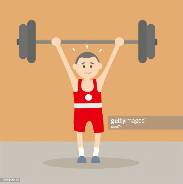 Young weightlifter