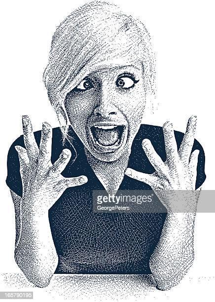 Mujer joven y el sentimiento expresión