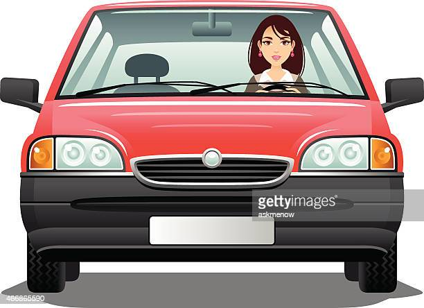 young woman driver - young women stock illustrations