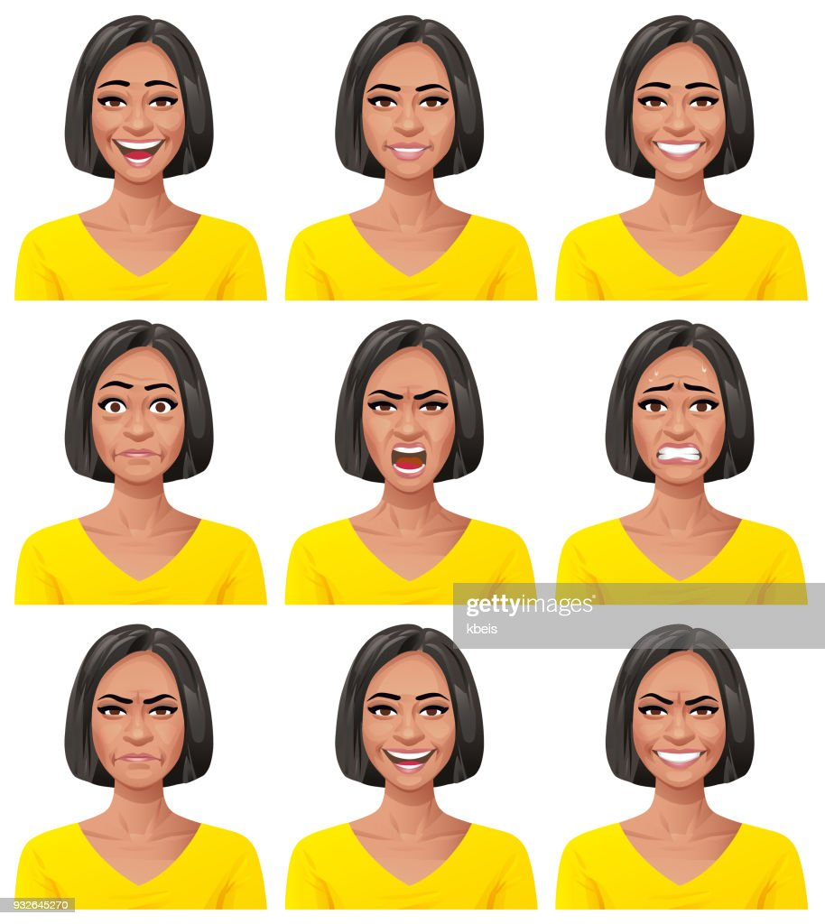 Young Woman- Facial Expressions