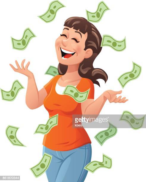 Junge Frau Getting Rich